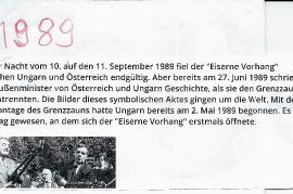 1989 Öffnung des eisernen Vorhang. Demontage des Grenzzaunes 0PRO