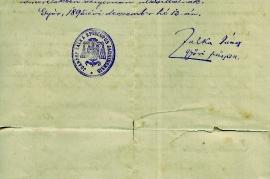 1895 Stiftbrief Seite 2 271PM