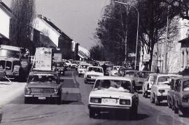 1989 Öffnung des eisernen Vorhanges Verkehr in Zurndorf 5PRO