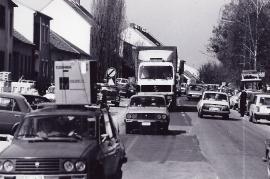 1989 Öffnung des eisernen Vorhanges. Verkehr in Zurndorf 6PRO