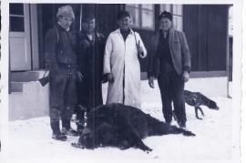 1963 Erlegung des 1. Wildschweines d. J. Rosner 8UNGR