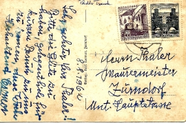 1962 Comor Ansichtskarte Rückseite 32T