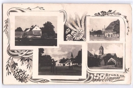 1924 Zurndorf, 4 Detailansichten, Gruss-aus,