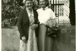 1956-Horwath, nee Rauscher, Katherine and Schusterreiter, nee Rauscher, Theresia Europe likely Zurndorf, Austria 32HW
