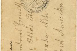 1921 Umschlag aus Zurany Vorderseite 46HW