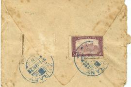 1921 Umschlag from Zurany Rückseite 46HW