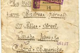1922 Umschlag ab Johan Rauscher Zurndorf, BNaS, Burgenland Vorders. 55HW