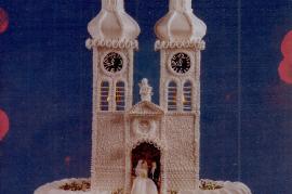 1960er Hochzeitstorte Basilika Frauenkirchen, gemacht Theresia Fischer 12UNGR