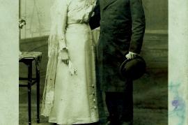 1913 Mathias Beck und Elisabeth Szakolcai (Samek) Schuster  3RW