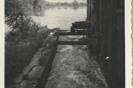 1950er Hochwasser bei der Götz Mühle 43GÖ