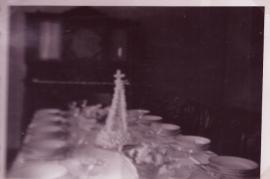 1949 Glockenweihe Mittagstisch im Pfarrhaus 31Gö