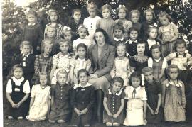 1948 Schulbild, Jahrgang 1941-42 1. Klasse 46ZA