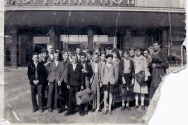 1950er Schulausflug Jahrgang 1943 mit Lehrer Graf 5KB