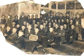 1920er Schulbild 1927-28 1. bis 3. Klasse A174