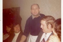 1972 Fasching Sonntag im Gasthaus Thell ?, K. Meidlinger, J. Thell, E. Dürr, A. Dürr 63DW