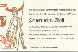 1977 Einladung FF Prellenkirchen 80DW