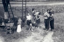 1950er Kirschenernte an der B10 J. Dürr (Resch), W. Dürr, L. Strobl, A. Sochr, H. Pamer 10RG