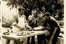 1950er Sautanz, J. Albrecht, H. Natterer, M. Dürr, Matl Dürr, 4RG
