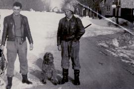 1962 der letzte strenge Winter in der Leithagasse J. Hiermann (Pepsch) Johann Unger 10UNGR