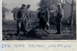 1960er M. Sonnleiner. Joschko Heinz, Lois Strobl (Patschi), J. Harmath, Stefan Lang 126So