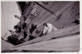 1960er am Bau Gesimse Mauern UH. 1 jetzt Nagelreiter, v.l. ?, A. Wendelin, O. Thaller 21EDA