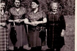 1964 M. Samek, E. Pamer (geb. Beck), Fr. Haas, Fr. Reif 90WS