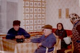 1973 v.l. M. Meixner, M. Liedl, Theresia Öller, E. Liedl 86LÖ
