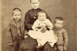1870 v.l. J. Müllner, Neger Ahnl, P., J. Müllner, 21BA